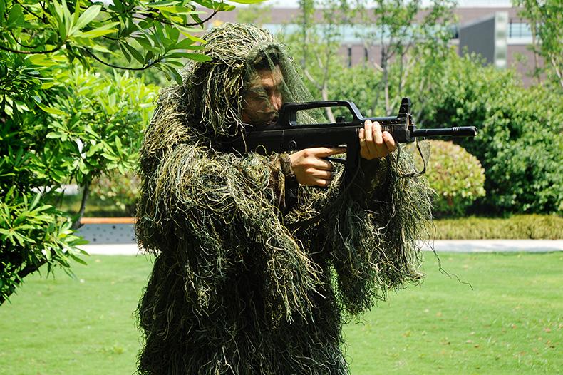 丛林毛丝两件套伪装服